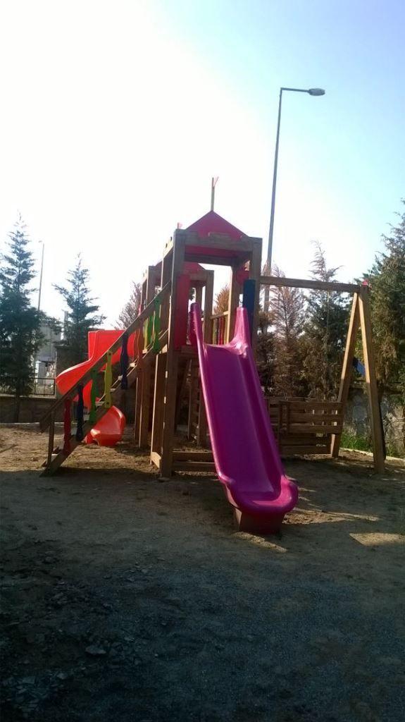 İki Kaydıraklı Gondollu Oyun Parkı,Ay-Go, Ahşap Oyun Parkları,Ay Geliştirici Oyuncaklar - Bursa