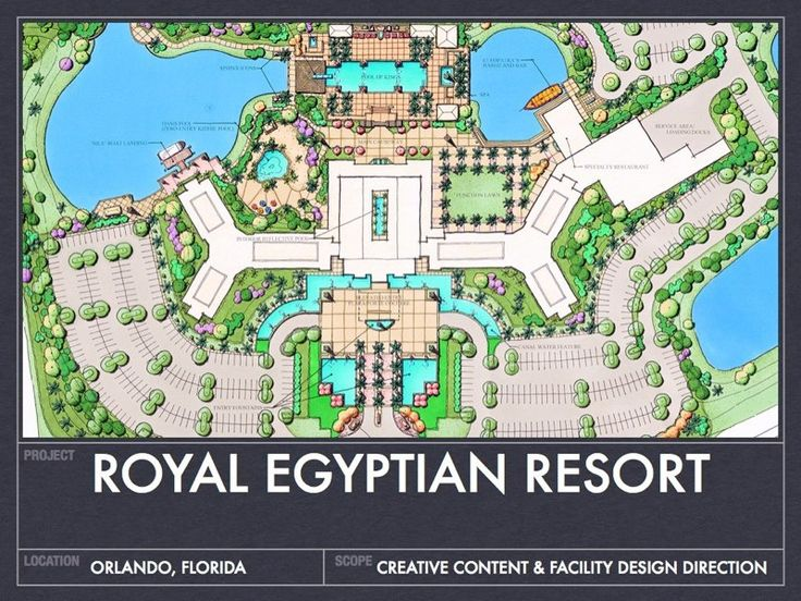 Resort parking design plan royal egyptin resort master for Hotel design layout