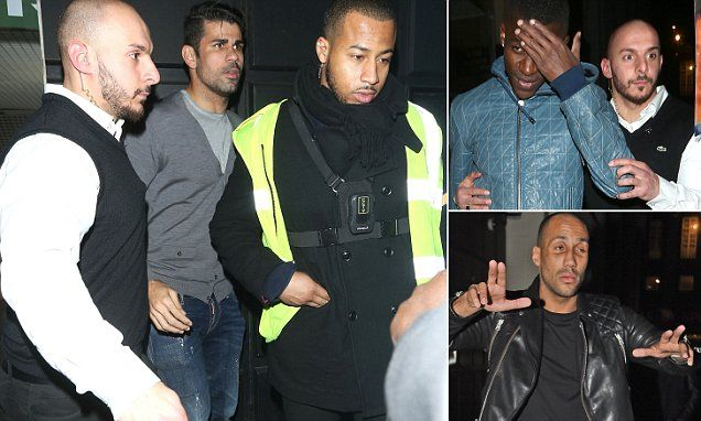 CHELSEA stars DIEGO COSTA and RAMIRES spotted leaving London nightclub at 3.15am with boxing champion James DeGale...
