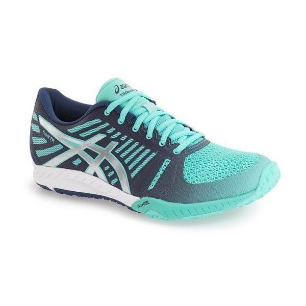 Women's Asics 'Fuzex' Training Shoe ($110) ❤ liked on Polyvore featuring shoes, athletic shoes, cross trainer shoes, lightweight shoes, cross training athletic shoes, shock absorbing shoes and crosstrainer shoes