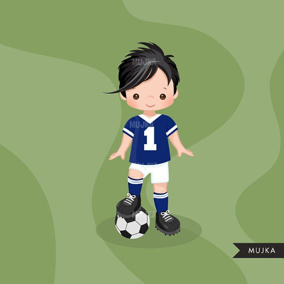 Soccer Clipart Sport Graphics Boys Soccer Player Characters Etsy Sports Graphics Soccer Boys Player Character