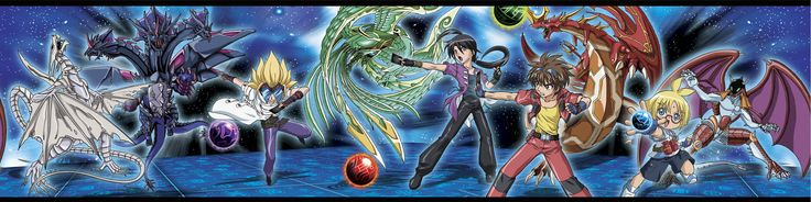 "Bakugan Battle Brawlers 15' x 6.75"" Border Wallpaper"