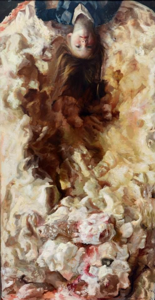 Guillermo Lorca Garcia Huidobro (Chilean: 1984) | Candy girl II, óleo sobre tela 150x80 2011-2013