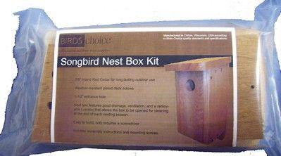 Songbird Nest Box-Birdhouse Kit