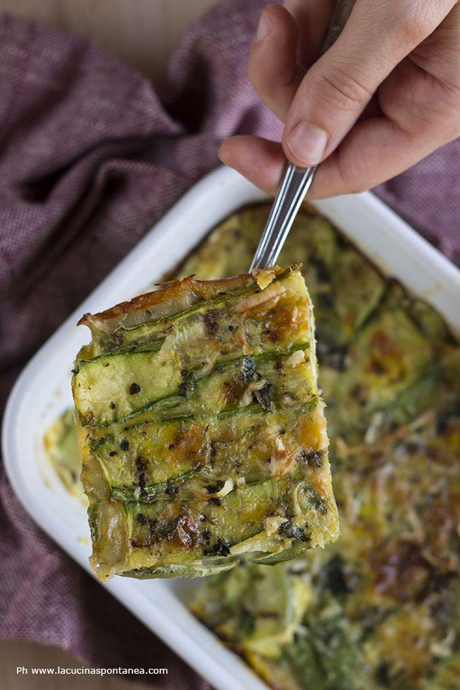 La cucina spontanea: Parmigiana bianca di zucchine