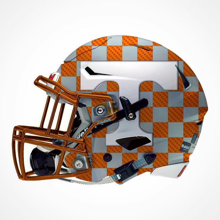 "Here's the University of Tennessee ""Smokey End Zone"" alternate Helmet…"
