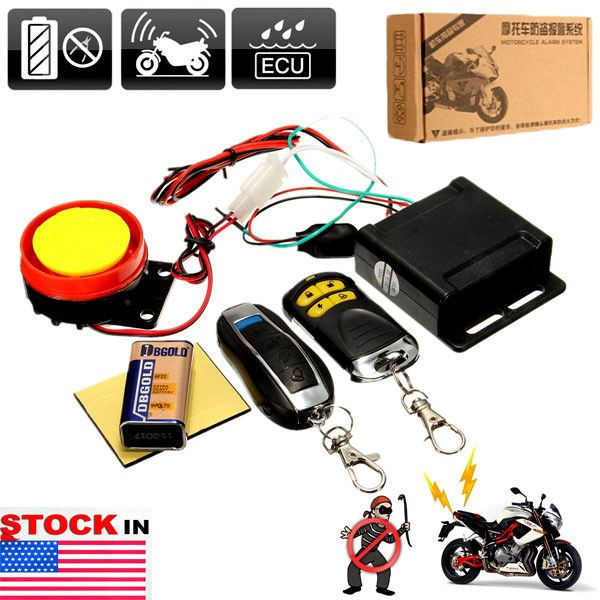Motorcycle Bike Keyless Anti Theft Security Alarm System Remote