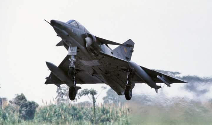 The Israel Aircraft Industries (IAI) Kfir is an Israeli built multirole combat aircraft based on a modified French Dassault Mirage 5 airframe, with Israeli avionics and an Israeli-built version of the General Electric J79 turbojet engine.