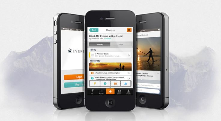 iPhone app Everest helps you to achieve all your goals in life.