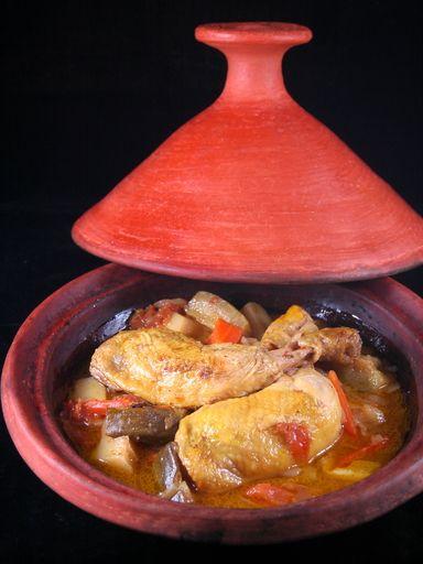 Tajine de poulet - Recette de cuisine Marmiton : une recette