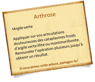L'argile verte pour soigner l'arthrose
