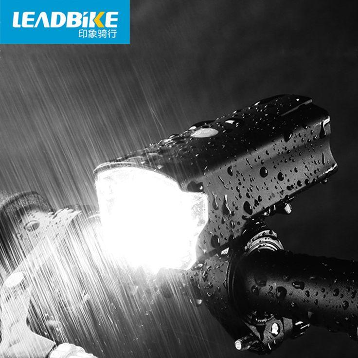 LEADBIKE USB Rechargeable Anti-glare Front Handlebar Bike Light Bicycle Led Lights IPX-IV Waterproof Headlight Bike Accessories