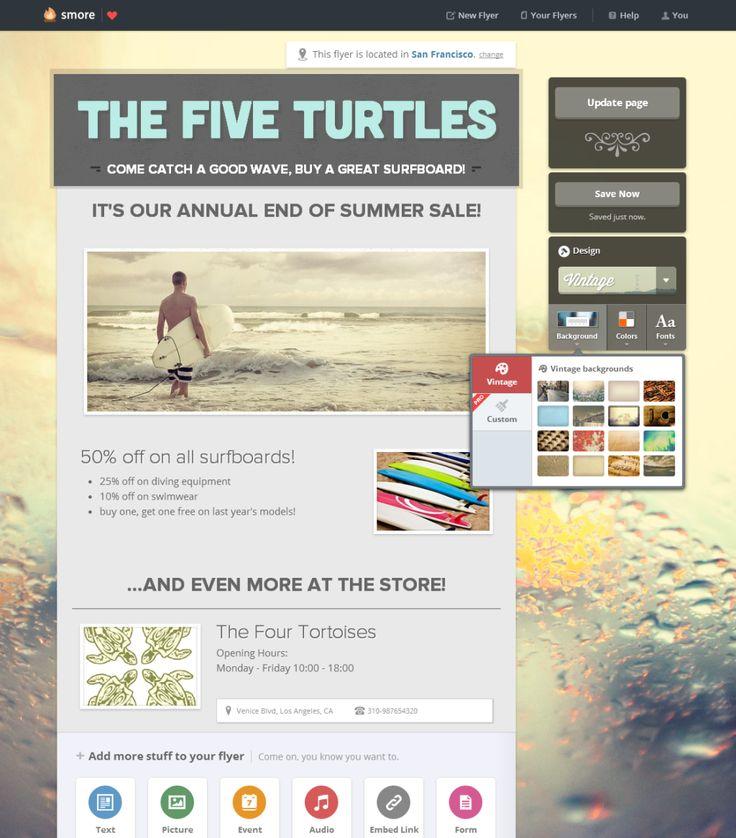 1ページの宣伝用Webサイトを簡単に作れて, さらにそれを宣伝するFacebookページやML送付もやってくれるSmore | TechCrunch Japan