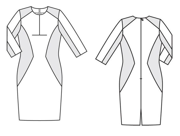 Платье - выкройка № 3 E из журнала 2/2013 Burda. Шить легко и быстро – выкройки платьев на Burdastyle.ru