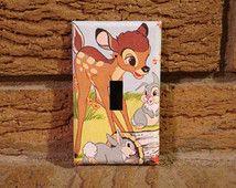 Bambi et Panpan lumière commutateur de couverture, crèche Bambi, Bambi Baby Shower, Bambi Panpan, décoration de Bambi