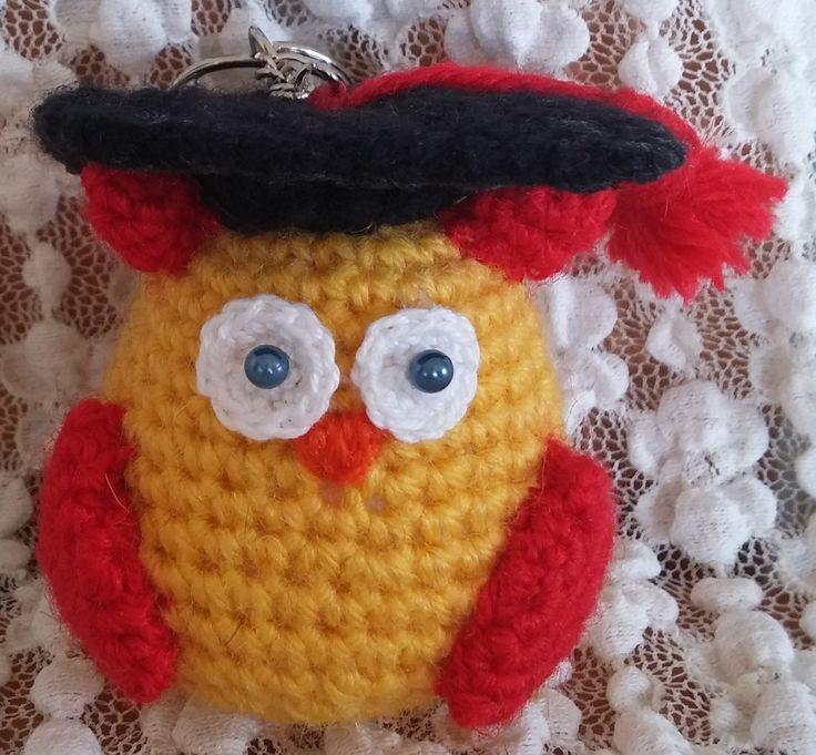 Gufetto laureato. Amigurumi. Uncinetto. Crochet.