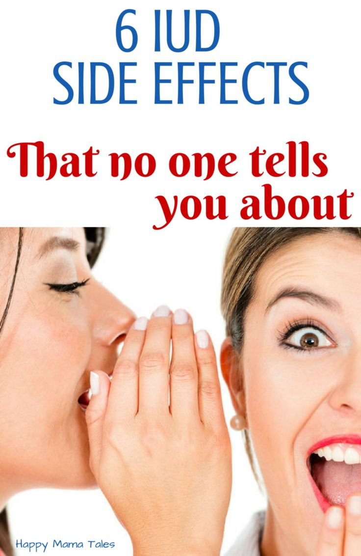 6 IUD Side Effects {That no one talks about}  Have you experienced any of these iud side effects too?