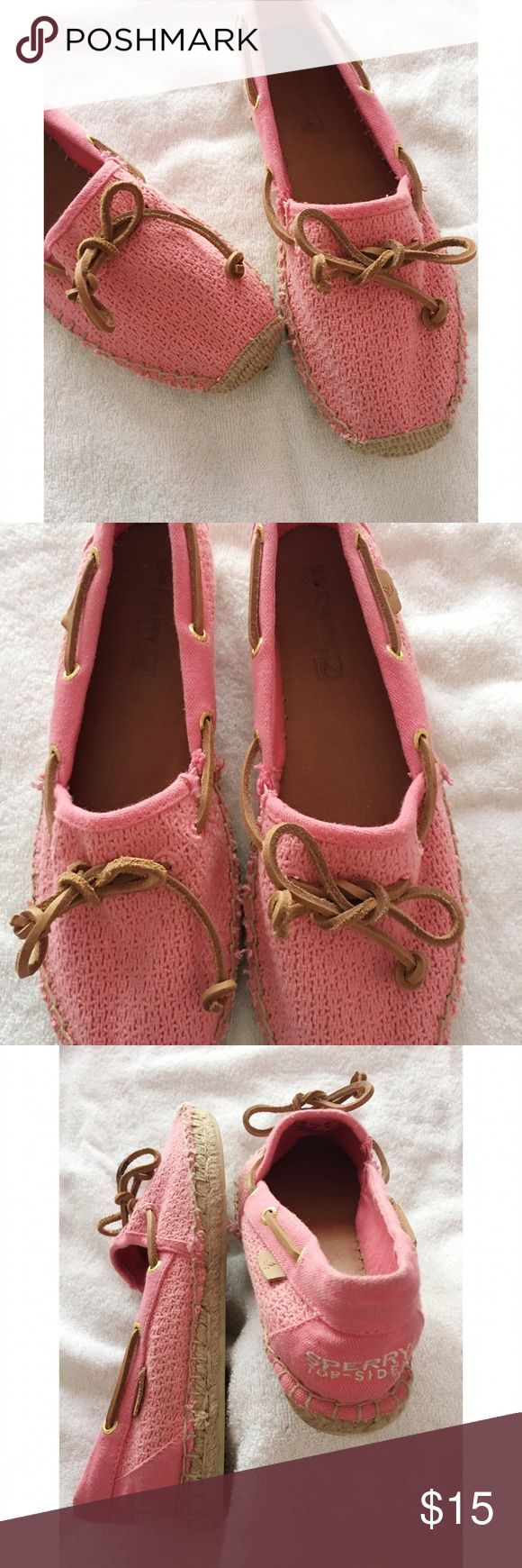 Sperry Top-Siders This pair of Sperry Top-Siders are in great condition and are a size 8. They have a leather tie and cute fabric tops. Soles are in great condition. Sperry Top-Sider Shoes Flats & Loafers