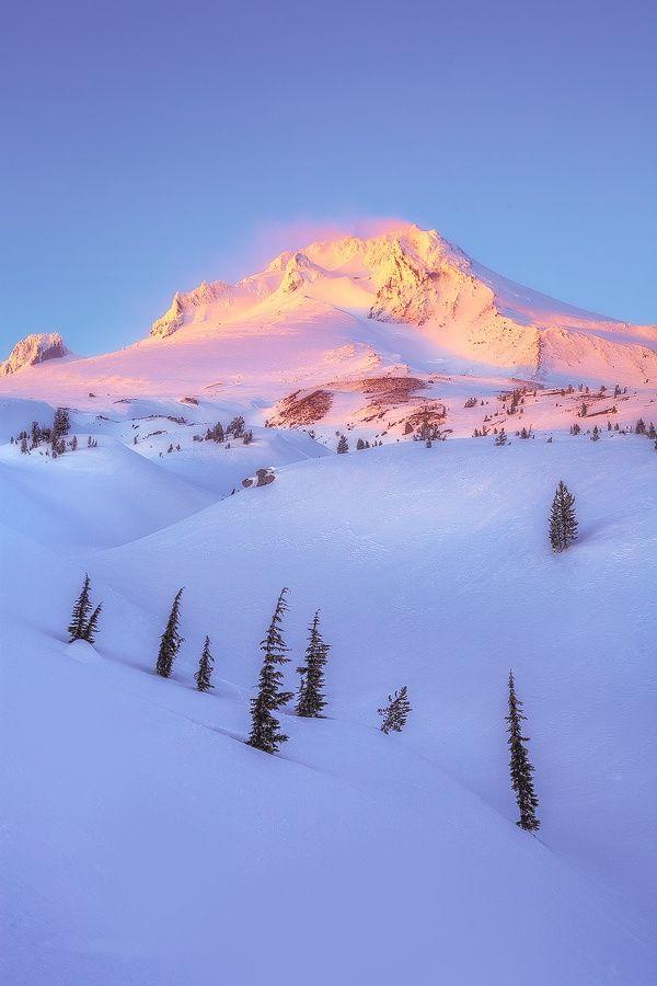 Winter Glow,  Mount Hood, USA,by Jarrod Castaing, on 500px.