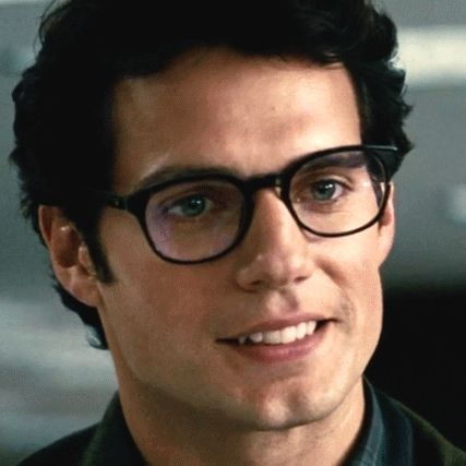 Henry Cavill as Clark Kent! Seriously that smile could make any day better!