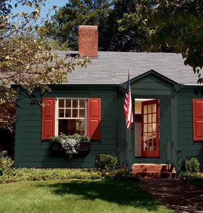 Simple White House Exterior