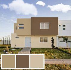 colores modernos para exteriores de casas en imagenes