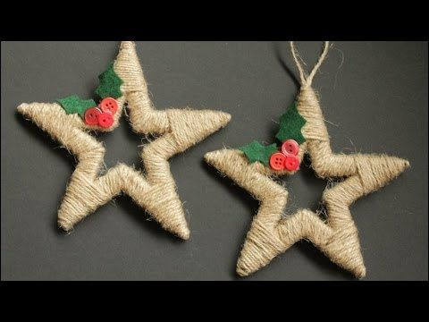 Twine Wrapped Christmas Star Ornaments