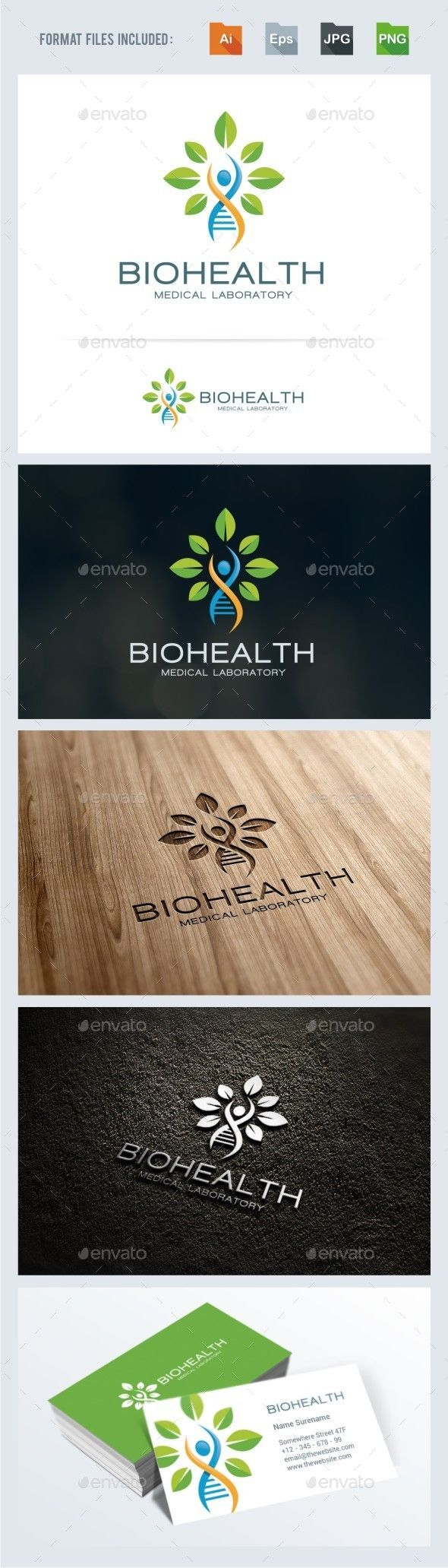 Bio Health - Medical Logo Template - Symbols Logo Templates