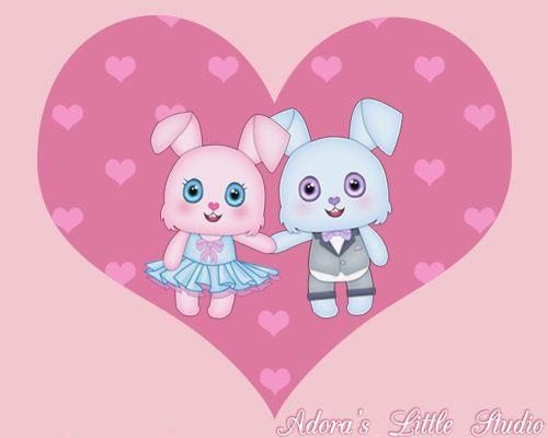 ❤ Happy Birthday Cute Video eCard Animation Teaser #5 ❤ ~kawaii ~bunny ~heart ~pink ~girly ~love