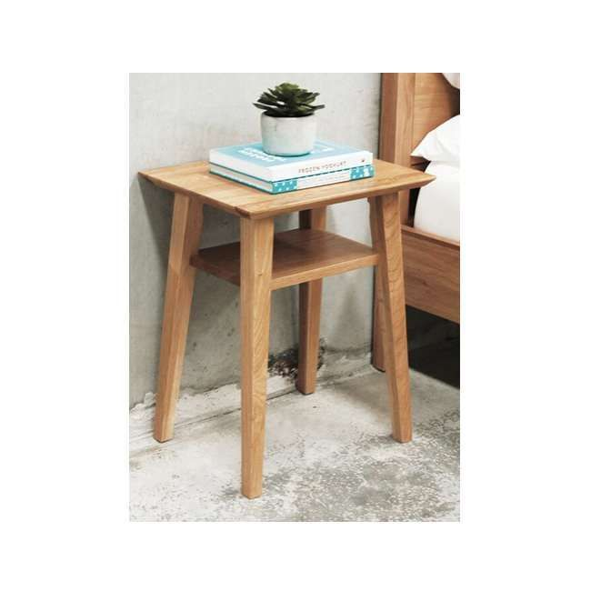 Norway Bedside Table with Shelf - Vavoom Emporium