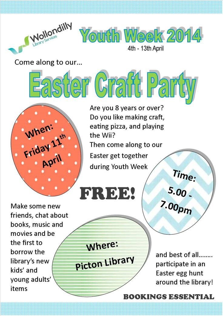 Easter Craft Party - Wollondilly Library