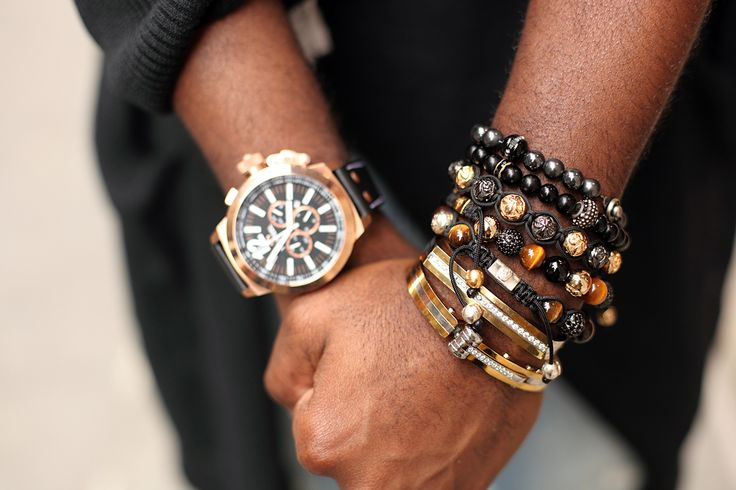Accessory Stalking! The Best Street Style Trimmings In NYC #refinery29  http://www.refinery29.com/street-style-accessories#slide5  Darius also has some serious wrist candy going on, in the way of King Baby, Nialaya, and Christopher Nolet bracelets.Photographed by Shanita Sims