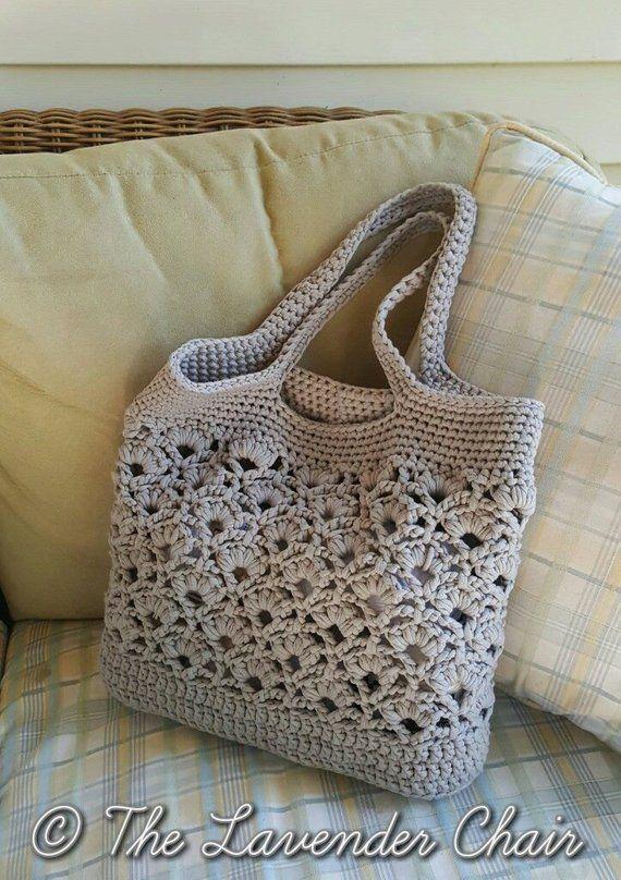 Daisy Fields Market Tote Crochet Pattern *PDF FILE ONLY* Instant Download