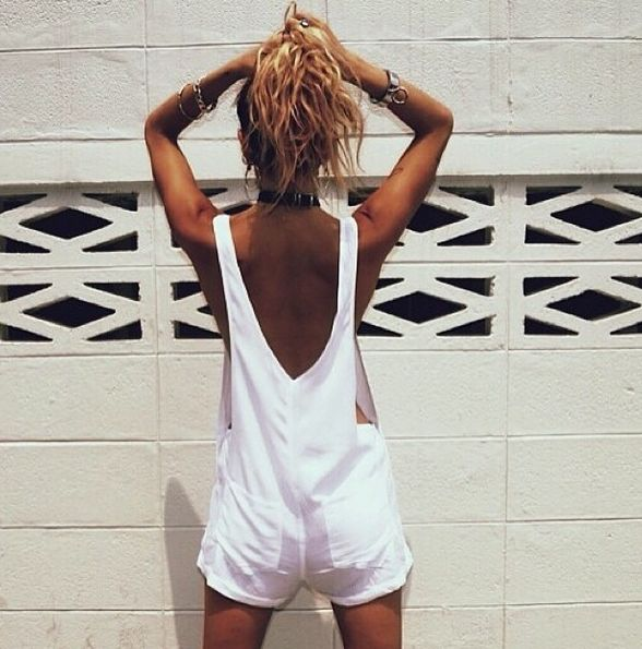 White dungarees by Rat and Boa