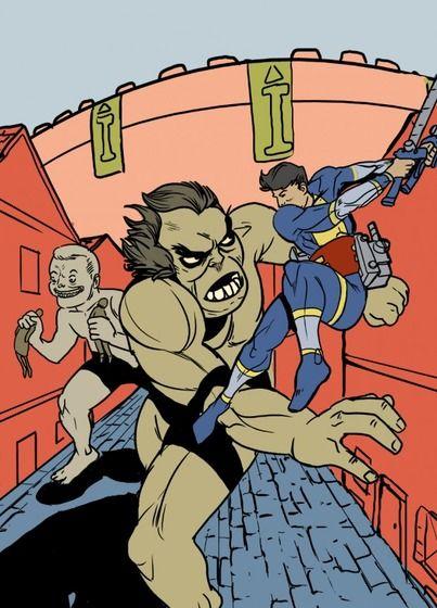 ジャック・カービー風『進撃の巨人』 作者:Sean McFarland  すらるど - 海外の反応 : 海外「もしアメコミ作家が日本の漫画やアニメのキャラを描いたらこうなる?」:海外の反応