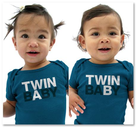 TWIN BABY A/B Onesies