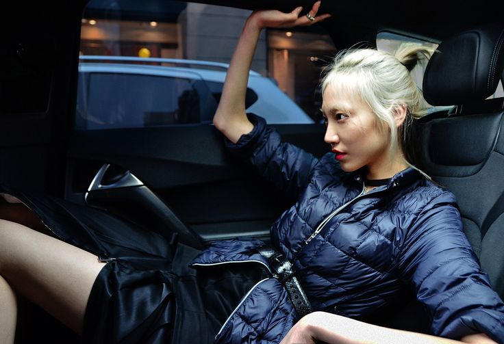 Soo Joo Park wearing Fay's iconic Down Jacket for the Double Life project.