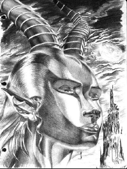 "Yordi Lara-Ochoa ""Ginegazella 1"" Pencil on paper 21 x 29.7 cm 1997"