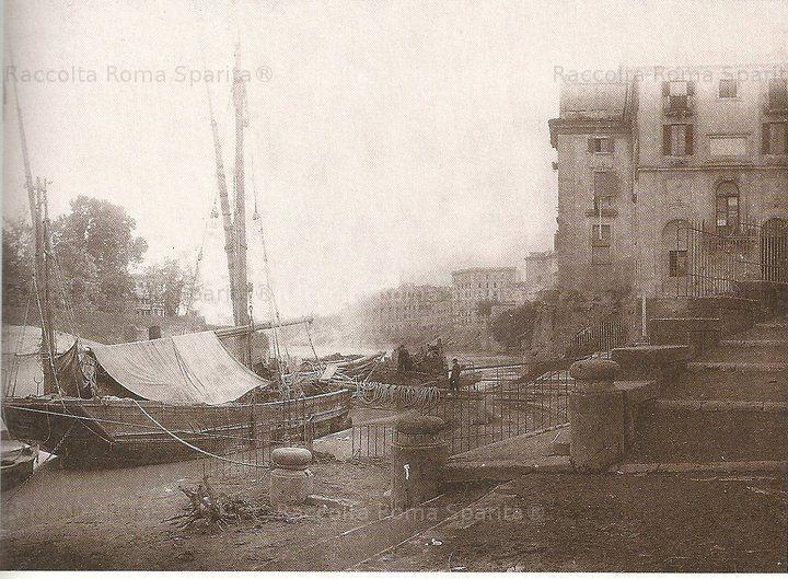Il Porto di Ripetta:  Anno 1880 – 1885