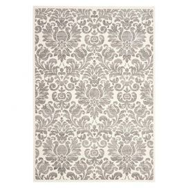 Featuring a damask print in gray and ivory, this artful rug adds a cozy touch to your home library or living room. Pair it with patterned furniture to create an eclectic look, or let its ornate motif anchor an airy space.    Product: RugConstruction Material:  Polypropylene Color: Gray and ivoryFeatures:  Power-loomedMade in Belgium Note: Please be aware that actual colors may vary from those shown on your screen. Accent rugs may also not show the entire pattern that the corresponding ...