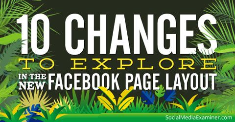 new facebook layout changes