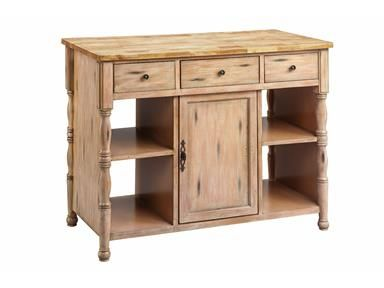 Robard Wood Top Kitchen Island