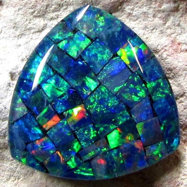 opal | mosaic opal the previously described opals are all naturally formed ...