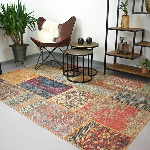 Vloerkleed Multicolor Brinker Carpets Vloerkleed Patchwork - Moods Rustic No.16