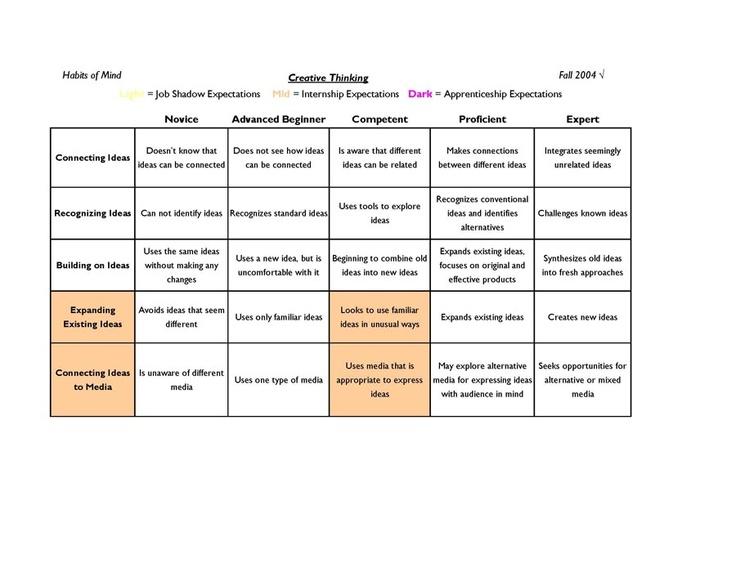 Rubric to assess critical thinking skills