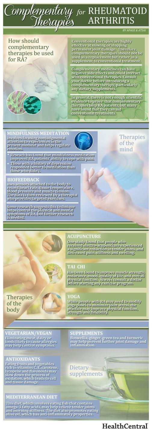 Health Infographic: Learn about complementary therapies for rheumatoid arthritis. #Rheum #Athritis #RA
