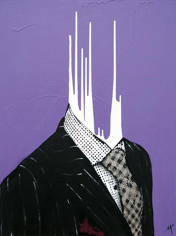 """Original Artwork by Matt Stewart. Size: 90cm (35.4"""") x 120cm (47.2""""). Acrylic / Aerosol #art #artwork #fashion #home #interiordesign #suit  www.mattstewart.tv"""