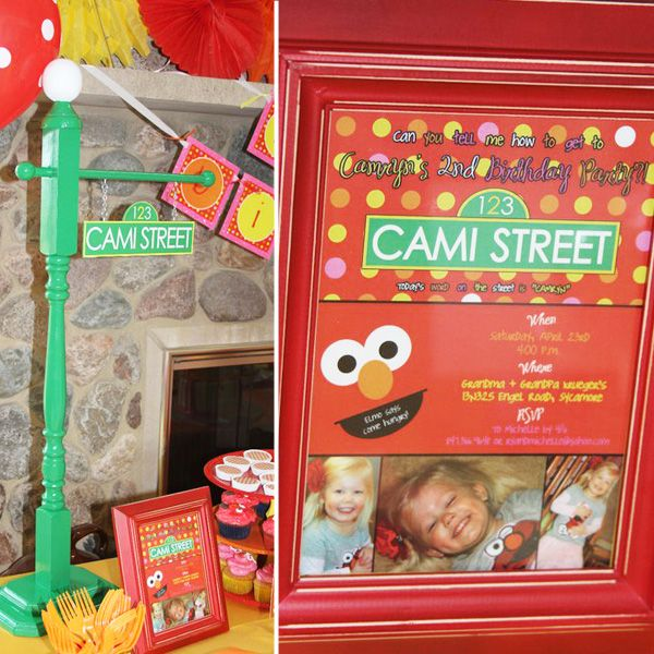 Elmo Birthday party - invitation