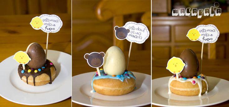 Etiquetes (pollet i mona) per a decorar la mona de Pasqua :D