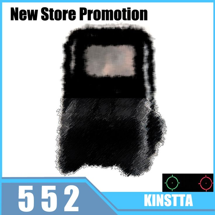 KINSTTA 552 Red Dot Reflex HOLOgraphic sights Collimator Sight AA Batteries For Airsoft/Softair Shotgun